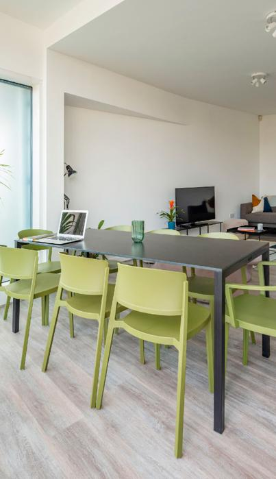 Co-living Camden Town workspace in communal lounge.