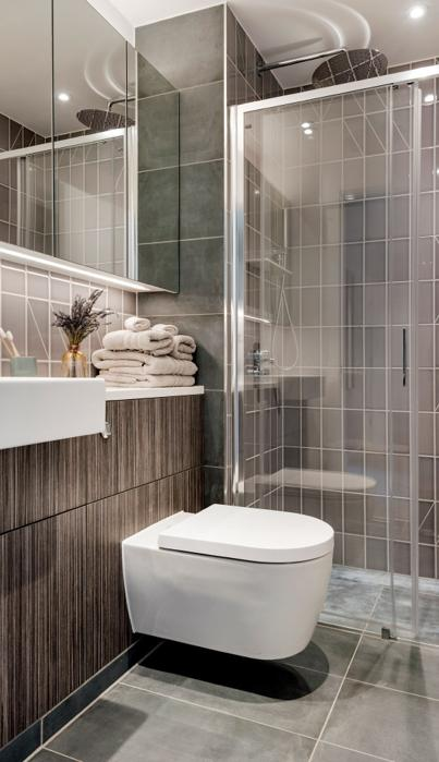 Co-living Camden Lock ensuite bathroom.